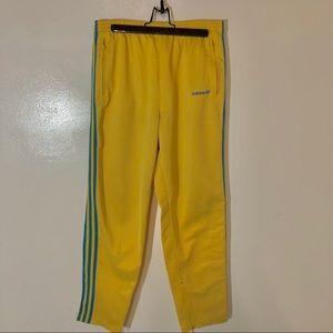 Vintage Adidas Yellow Joggers